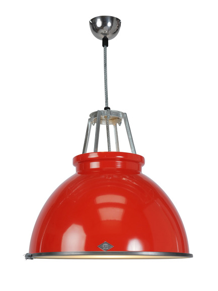 "Press kit | 2023-01 - Press release | British lighting manufacturer Original BTC launches new collections for SS16 - Original BTC - Lighting Design -   Original BTC Titan size 3 pendant in red  <a href=""http://www.originalbtc.com"">www.originalbtc.com</a>                   +207 351 2130   - Photo credit: Original BTC"