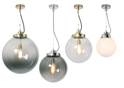 "Press kit | 2023-01 - Press release | British lighting manufacturer Original BTC launches new collections for SS16 - Original BTC - Lighting Design -   Original BTC  Globe pendants with anthracite, clear and opal glass  <a href=""http://www.originalbtc.com"">www.originalbtc.com</a> +207 351 2130   - Photo credit: Original BTC"