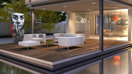 Press kit | 2053-01 - Press release | deiNERI launches stand'ART: an innovative wall-less system that brings visual art to outdoor living. - deiNERI Design Inc. - Product -   deiNERI exterior space photo   - Photo credit: Tanya Paiva, Paiva design<br>