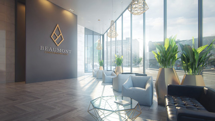 Press kit | 2056-01 - Press release | Unveiling Of The Brand New Beaumont Condominiums Project - DevMcGill - Real Estate - The Lobby : A Grand Entrance - Photo credit: Sébastien Gaudard - Vizual 3D
