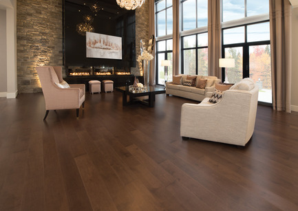 Press kit | 1639-04 - Press release | Rio and Havana: hot new colors from Mirage Hardwood Flooring - Mirage Hardwood Floors - Residential Interior Design -  Maple Havana - Admiration Collection<br>    - Photo credit:  Mirage Hardwood Floors