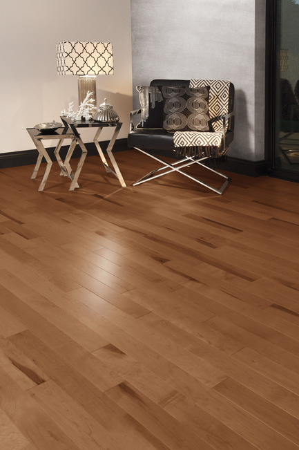 Press kit | 1639-04 - Press release | Rio and Havana: hot new colors from Mirage Hardwood Flooring - Mirage Hardwood Floors - Residential Interior Design -  Maple North Hatley - Admiration Collection<br>  - Photo credit:   Mirage Hardwood Floors