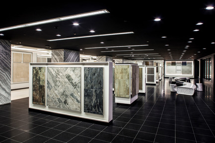 Press kit | 2066-01 - Press release | Canadian Design studio II BY IV DESIGN receives growing international recognition for Retail Environments - II BY IV DESIGN - Commercial Interior Design - Olympia Tile Showroom - Photo credit: Hill Peppard