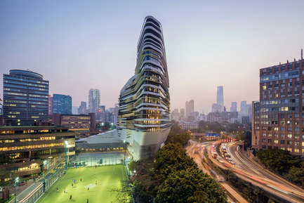 Press kit | 2072-01 - Press release | Zaha Hadid1950­-2016 - Zaha Hadid Architects - Event + Exhibition - Jockey Club Innovation Tower, at Hong Kong Polytechnic University - Photo credit: Doublespace