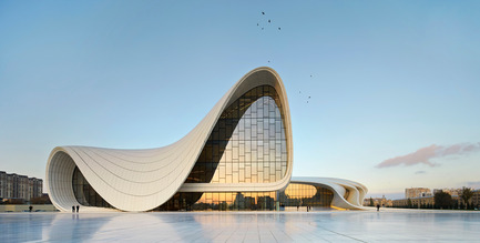 Dossier de presse | 2072-01 - Communiqué de presse | Zaha Hadid1950­-2016 - Zaha Hadid Architects - Event + Exhibition - Heydar Aliyev Center, Baku - Crédit photo : Hufton+Crow