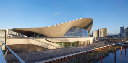 Dossier de presse | 2072-01 - Communiqué de presse | Zaha Hadid1950­-2016 - Zaha Hadid Architects - Event + Exhibition - London Aquatics Centre - Crédit photo : Hufton+Crow