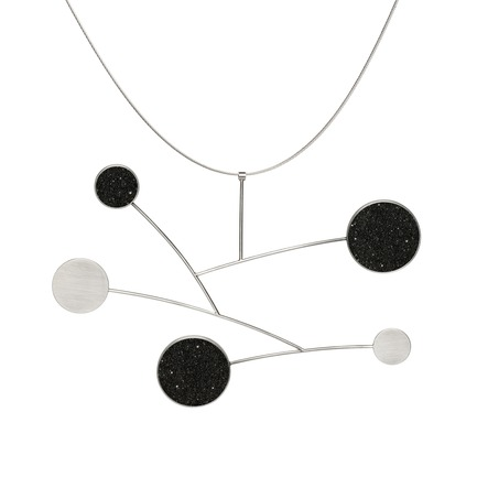 Press kit | 2063-01 - Press release | Stellar, a new concrete-and-diamond jewelry collection from Konzuk, launches at ICFF in New York in May 2016 - KONZUK  - Product -   Konzuk Stellar Collection: Draco, necklace  - Photo credit:  Jason Koroluk