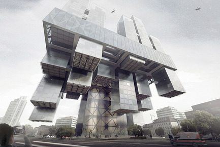 Press kit | 1127-05 - Press release | Winners 2016 Skyscraper Competition - eVolo Magazine - Competition - Trans-Pital: Space Adaptive Skyscraper Hospital - Photo credit: Chen Linag, Jia Tongyu, Sun Bo, Wang Qun, Zhang Kai, Choi Minhye