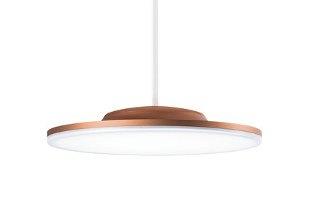 Press kit | 1659-02 - Press release | Zumtobel Honoured With Three Red Dot Awards - Zumtobel Lighting GmbH - Commercial Architecture - The CAELA LED luminaire family is characterised by an innovative, slim design and two different kinds of light distribution - seen here as a pendant version.  - Photo credit: Zumtobel