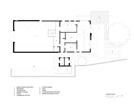 Press kit | 2112-01 - Press release | Brecon Estate Winery - Aidlin Darling Design - Commercial Architecture - Floor plan - Photo credit: Aidlin Darling Design