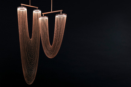 Press kit | 2110-01 - Press release | Larose Guyon's new lighting fixtures collection /Les Ateliers Guyon's new hanging chair - Larose Guyon - Lighting Design - Otéro - Small & Large / Lighting fixture / Larose Guyon - Photo credit: Larose Guyon