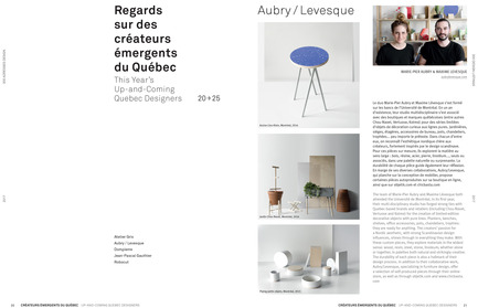 Press kit | 611-23 - Press release | Index-Design launches the 9th annual Guide – 300 Addresses to Design and Renovate - Index-Design - Edition - This Year's Up-and-Coming Quebec Designers - Photo credit: Index-Design