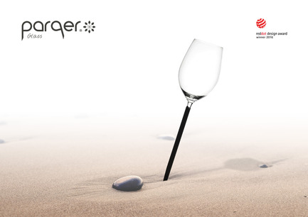 Press kit | 2096-01 - Press release | Parqer - The wine glass for outdoor use - Parqer Glass - Product - Bring the real wine experience into nature with full comfort and stability - Photo credit: Parqer Glass