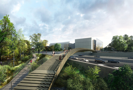 Press kit | 2042-02 - Press release | The Claude Bernard overpass - DVVD architecture, design and engineering agency - Landscape Architecture - Photo credit: Yam Studio<br>