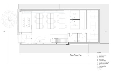 Press kit | 1891-02 - Press release | Hybrid Design - Terry & Terry Architecture - Commercial Architecture - first/ground floor plan - Photo credit: Terry.Terry Architecture