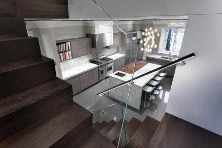 Press kit | 625-15 - Press release | Arte e Moda - Desjardins Bherer - Residential Interior Design -  CUISINE - ESCALIER SECONDAIRE<br>CE PROJET COMPORTE DES RESTRICTIONS DE PUBLICATION, MERCI DE CONTACTER CAROLINE SIMARD POUR AVOIR ACCÈS AUX IMAGES  csimard@volume2.ca   /THIS PROJECT HAS PUBLICATION RESTRICTIONS, PLEASE CONTACT CAROLINE SIMARD TO ACCESS IMAGES  csimard@volume2.ca     - Photo credit:  André Doyon