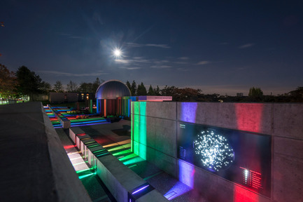 Press kit | 2124-01 - Press release | The Illuminating Engineering Society of British Columbia announces its 'Vision Award' winners for 2016 - IESBC - Lighting Design - SFU's Trottier Observatory and Science Courtyard - Photo credit:  PWL PARTNERSHIP LANDSCAPE ARCHITECTS INC.<br>