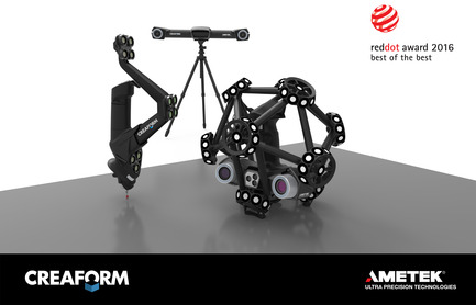 Press kit | 2160-01 - Press release | Creaform's new quality control lineup wins renowned Red Dot: Best of the Best! - Creaform - Industrial Design - Creaform's reengineered quality control line up wins Red Dot Award 2016: Best of the best - Photo credit: Creaform