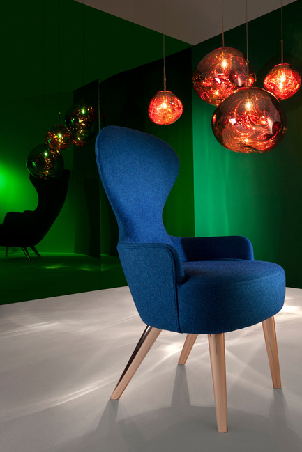 Press kit | 2158-19 - Press release | IDS Vancouver Announces Tom Dixon as Keynote Speaker for Trade Day - Interior Design Show Vancouver (IDS Vancouver) - Event + Exhibition - Tom Dixon Melt Copper and Wingback Chair - Photo credit: Image Courtesy of Tom Dixon