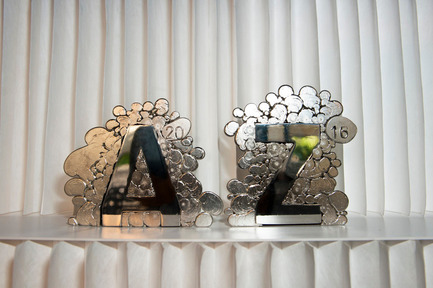 Press kit | 809-18 - Press release | Azure Reveals the Winners of the Sixth Annual AZ Awards - Azure Magazine - Competition - The 2016 AZ Awards Trophy, designed by Omer Arbel - Photo credit: Azure