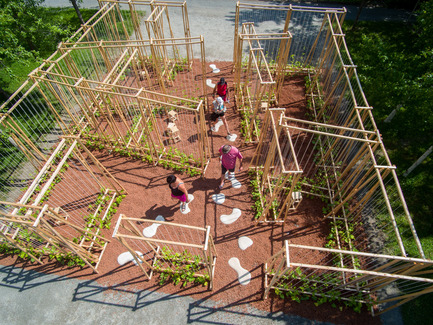 Press kit | 837-16 - Press release | Opening of the 17th International Garden Festival - International Garden Festival / Reford Gardens - Landscape Architecture -  LA MAISON DE JACQUES by Romy Brosseau, Rosemarie Faille-Faubert, Émilie Gagné-Loranger, Québec (Québec) Canada  - Photo credit: Martin Bond