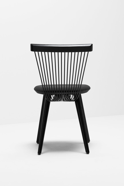Press kit | 1539-03 - Press release | WW Chair - H Furniture Ltd. - Industrial Design -  WW Chair <br>		 	 	 		 			 				 					 						Wood: oak, stained black. Upholstery: black fabric  					<br> 				<br> 			<br> 		<br>  - Photo credit: Peter Guenzel