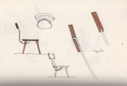 Press kit | 1539-03 - Press release | WW Chair - H Furniture Ltd. - Industrial Design - WW Chair Sketches - Photo credit: Hierve