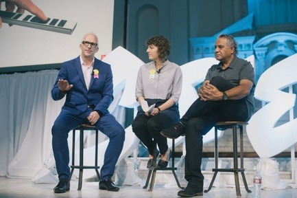 Press kit | 2048-03 - Press release | 3rd Annual Core77 Conference Tickets Now Available - Core77 - Industrial Design - 2015 Core77 Conference - Speakers Pip Tompkin, Rebecca Veit, and Ravi Swahney - Photo credit: Core77
