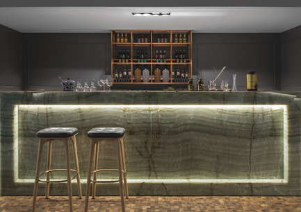 Press kit | 1124-09 - Press release | WIN Awards - Hospitality Shortlist Announced - World Interiors News - Commercial Interior Design - WIN Awards 2016 - Bars Category: Cocktail Kitchen by Anarchitect (United Arab Emirates)<br><br>Designed by UAE based practice Anarchitect, architects Jonathan Ashmore and Tarik Zaharna created a sequence of spaces over 500 sq. m that maximize social interaction as part of the overall experience. It was important to create a journey and narrative embedded in the project that continually intrigues and invites guests back to engage and enjoy these experiences in a relaxed and beautifully crafted environment.<br><br>'The architects have used some very novel materials – we liked the use of timber floor and exclusive stone.' MA<br><br>'There are some really beautiful moments in this project.' CN<br> - Photo credit: Anarchitect