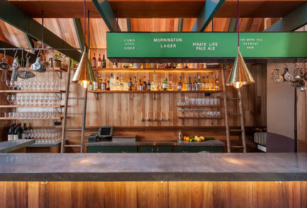 Press kit | 1124-09 - Press release | WIN Awards - Hospitality Shortlist Announced - World Interiors News - Commercial Interior Design - WIN Awards 2016 - Bars Category: Pink Moon Saloon by Sans-Arc Studio (Australia)<br><br>The client's brief was to integrate a narrative of campfire cooking and a childlike nostalgia for nature with a bar and kitchen, in a narrow alleyway in the CBD of Adelaide. The design process centred on exploring the typology of the wilderness hut, creating a moment of warmth and respite.  <br><br>Huts are traditionally located in remote areas and in geographically unique places, meaning construction materials must be sourced from the immediate locality. The intention with Pink Moon Saloon was to create a specific identity and vernacular style by designing and building in the way a hut is traditionally constructed; with an intimate knowledge of its context and climate.<br><br>'An excellent solution to a difficult space and is really special in its simplicity'.CN <br><br>'Predominantly clever in its approach to 'place making'. We felt there is purity to both the exterior and interior…architecturally it is exquisite.' JT <br><br>'An excellent architectural proposal.' MA <br><br>'The building demonstrates a great touch of genius - to use a small alleyway as a bar, including an open outside area. The interiors are both cosy and comfortable.' PJ<br> - Photo credit: Sans-Arc Studio