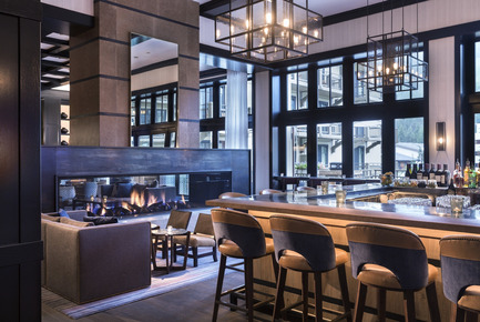 Press kit | 1124-09 - Press release | WIN Awards - Hospitality Shortlist Announced - World Interiors News - Commercial Interior Design - WIN Awards 2016 - Bars Category: Remedy Bar by Meyer Davis Studio Inc. (United States of America) <br><br>Located in a luxury resort in Vail, the design team employed a rich narrative by meshing the inspirations of an apothecary with the materiality of a ski lodge. This renovation transformed a classic lobby lounge into a bustling social lobby bar. The square bar is made of zinc lined with leather, creating a shiny centerpiece that now invites the eye to travel through the floor to ceiling windows to the views of Vail mountain. Tables of walnut are interspersed with industrial elements and stone, creating an eclectic atmosphere that is still clean and modern. Energized by floor-to-ceiling mountain views, more additional lounge-like living rooms finger off both ends of the main bar allowing for intimate socializing. A medley of furnishings – modern, industrial and cabin chic – cohesively appeal to the cosy Vail Valley venue.<br><br>'Exquisitely detailed and designed in terms of responding to the architecture of the building and the principal elevations. We had nothing bad to say about this bar…we were extremely impressed with every detail of the design.' JT<br> - Photo credit: Meyer Davis Studio Inc.