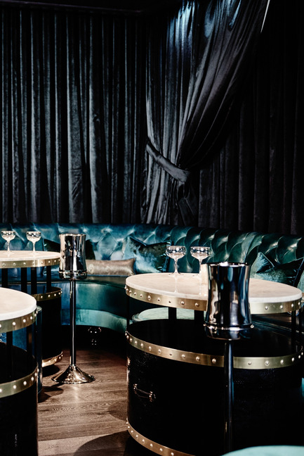 Press kit | 1124-09 - Press release | WIN Awards - Hospitality Shortlist Announced - World Interiors News - Commercial Interior Design - WIN Awards 2016 - Bars Category: Prohibition by Studio Munge (Canada) <br><br>Located within the legendary Rosewood Hotel Georgia in downtown Vancouver, Prohibition has been one of the city's most anticipated venues in recent months. The 3200 sq. ft venue opened its doors in February 2015, and is a play on the prohibition-era speakeasies that came into prominence during the Roaring Twenties. Designed by Studio Munge, Prohibition reflects the subtlety of a traditional speakeasy while incorporating rich jewel tones and sleek finishes to create an intimate and sophisticated ambiance.<br><br>'The design by Studio Munge is a very clever solution for a challenging space. We liked the luxurious colour palette, which works particularly well in a basement setting.' MA<br> - Photo credit: Studio Munge