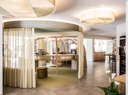 Press kit | 1124-09 - Press release | WIN Awards - Hospitality Shortlist Announced - World Interiors News - Commercial Interior Design -  WIN Awards 2016 - Hotels Category: The Apple Hotel by *noa – network of architecture (Italy)<br><br>It is all about the apple in the 'Apfelhotel Torgglerhof' in Saltaus in the Passiria Valley in Northern Italy. The agricultural farm and the hotel extend on 3 buildings and form the farm ensemble – surrounded by numerous apple trees and nature. For noa* network of architecture the starting point and key element of the design was the circle of the apple throughout the year: bloom, harvest, refinement and repose period.<br><br>'The Apple Hotel dared to be different – and it's charming. The muted palette of textures and tones relates strongly to the sustainable and organic undertones. We loved the contemporary takes on traditional elements throughout the design and we came away feeling refreshed to see a departure from the rustic, industrial and mid-century vibes which have dominated the market for the last few years.' CN<br> - Photo credit:  *noa – network of architecture