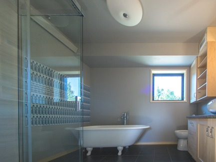 Press kit | 837-17 - Press release | Showcase of Excellence in Green Building at the Reford Gardens - Jardins de Métis / Reford Gardens - Residential Architecture -  Bathroom. Elsie Reford's Bathtub  - Photo credit: Louise Tanguay
