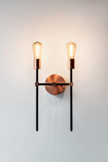Press kit | 2179-01 - Press release | Atelier Anaka Launches Online Boutique for Modern, Handmade Lighting - Atelier Anaka - Lighting Design -  Kelly.2 Sconce, from $375 CDN - Photo credit: Adrien Williams