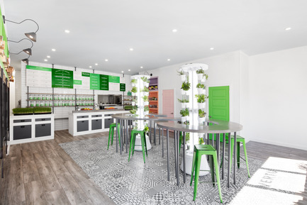 Press kit | 1215-03 - Press release | A refreshing design for a healthy menu - Issadesign - Commercial Interior Design - VertU - Photo credit: Adrien William