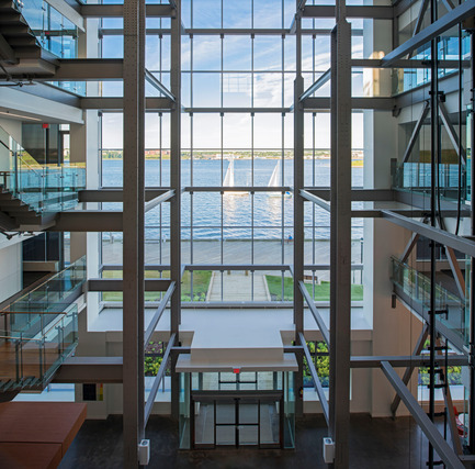 Press kit | 1080-02 - Press release | International Awards shortlist announced - INSIDE: World Festival of Interiors - Competition - Nova Scotia Power Corporate Headquarters, Canada<br>by WZMH Architects