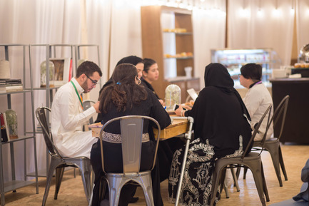 Press kit | 1652-02 - Press release | Saudi Design Week Completes Its Third And Most Successful Edition To-Date - Saudi Design Week - Event + Exhibition - Pop Up Cafe at SDW 2016  - Photo credit: Muzna Qamar, SDW 2016