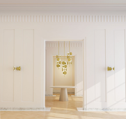 Press kit | 2110-02 - Press release | Larose Guyon's new lighting collection Le Royer - Larose Guyon - Lighting Design - Le Royer - Chandelier - Photo credit:  Larose Guyon