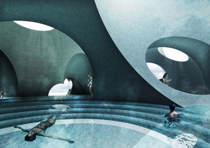 Press kit | 2255-01 - Press release | Liepāja Thermal Bath receives 2016 AAP American Architecture Prize - Steven Christensen Architecture - Institutional Architecture - Interior View, Tepidarium - Photo credit: Steven Christensen Architecture
