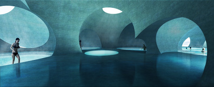 Press kit | 2255-01 - Press release | Liepāja Thermal Bath receives 2016 AAP American Architecture Prize - Steven Christensen Architecture - Institutional Architecture - Interior View - Photo credit: Steven Christensen Architecture