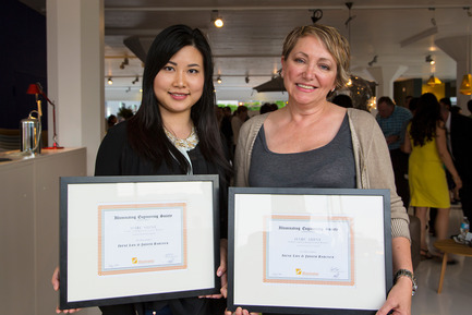 Press kit | 1615-03 - Press release | Call for Entries: The IESBC Vision Awards open January 1, 2017 - IESBC - Lighting Design -   Irena Lun (LH) & Judith Babock (RH) - IESBC recipients of Emerging Professionals SHINE design competition 2014<br>   - Photo credit: Michael Young <br>