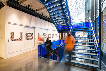 Press kit | 1152-08 - Press release | Four-Season Work and Play Areas at Ubisoft Quebec City - LumiGroup - Commercial Interior Design - Photo credit: Jonathan Robert