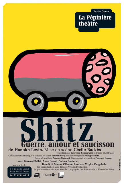 "Press kit | 748-08 - Press release | UQAM Centre de Design Program for 2013 – 2014 - Centre de design de l'UQAM - Event + Exhibition - GROS PLANL'ART DE L'AFFICHE DE MICHEL BOUVETAffiche ""Shitz"" 2008"