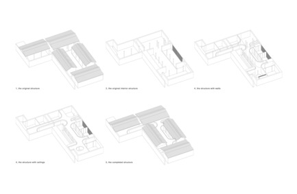 Press kit | 2264-01 - Press release | Tea House in Hutong - Arch Studio - Commercial Interior Design - Drawing - Photo credit: Arch Studio
