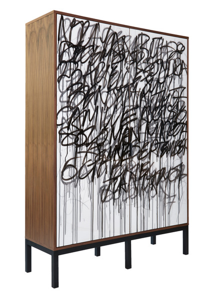 Press kit | 1176-15 - Press release | Top 2017 Design Trends Forecasted by IDS17 - Interior Design Show (IDS17) - Event + Exhibition - IDS17 MAKER, Morgan Clayhill's handmade wooden Graffiti Cabinet<br> - Photo credit: Morgan Clayhill