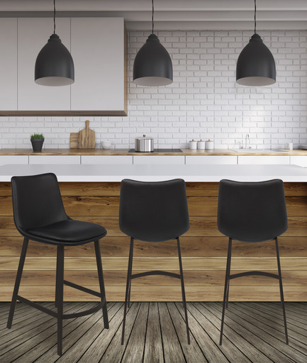 Press kit | 2044-02 - Press release | A New Line of Kitchen Stools Launched in Quebec - Walter Tabourets - Product - Morgan stool - Photo credit:  Wattitude Photo