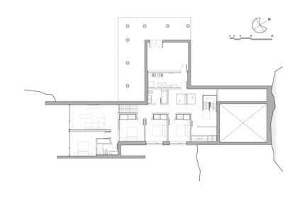 Press kit | 880-11 - Press release | Estrade Residence - MU Architecture - Residential Architecture - Basement plan - Photo credit: MU Architecture