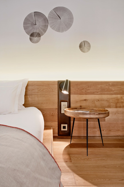 Press kit | 2303-01 - Press release | Puro Hotel - OHLAB - Commercial Interior Design - Headboard detail - Photo credit: José Hevia