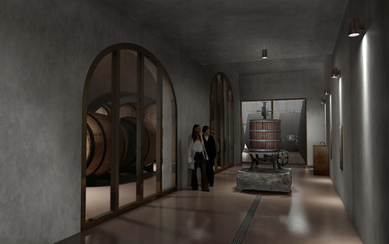 Press kit | 2219-01 - Press release | Winery in Chianti - IB Studio _ Arch. Invernizzi & Bonzanigo - Commercial Architecture - pressing area - Photo credit: IB Studio _ Arch. Invernizzi & Bonzanigo